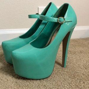 Mint Sexy Platform Heels 👠